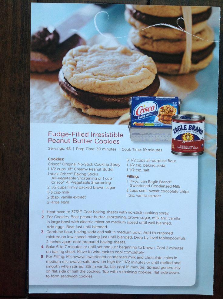 Fudge filled Peanut Butter Cookies