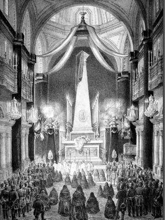 Exequias del Emperador Agustin de Iturbide