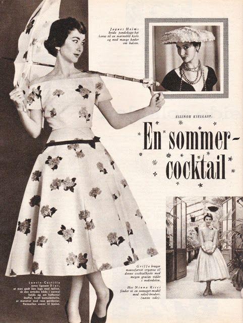 Such a dreamy floral print summer dress. #vintage #1950s #fashion #dresses