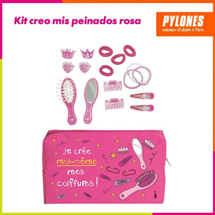Kit creo mis peinados rosado #Regalos #Novedades @pylonesco