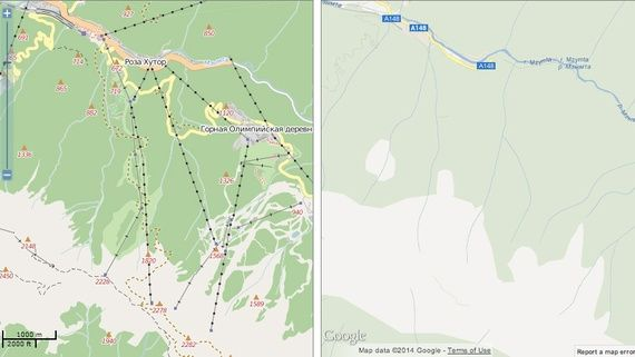In Sochi, Open Source Maps Beat Google's - Robinson Meyer - The Atlantic Cities