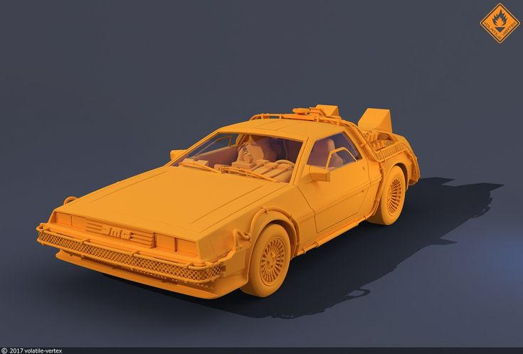 BTTF DeLorean on Behance
