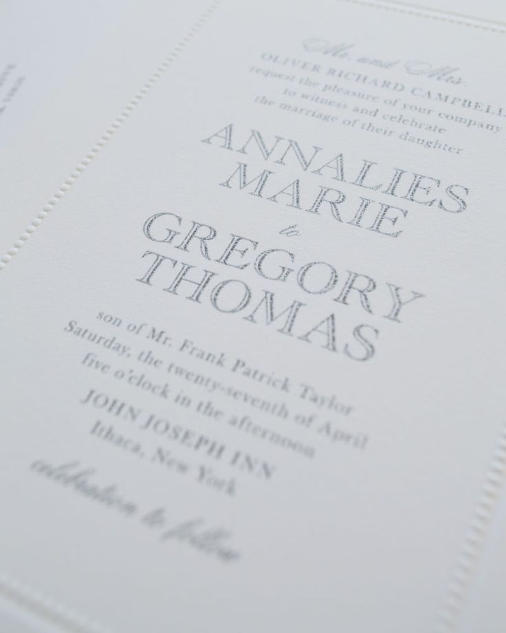 The 34 best Simple / Classic Wedding Invitations images on Pinterest ...