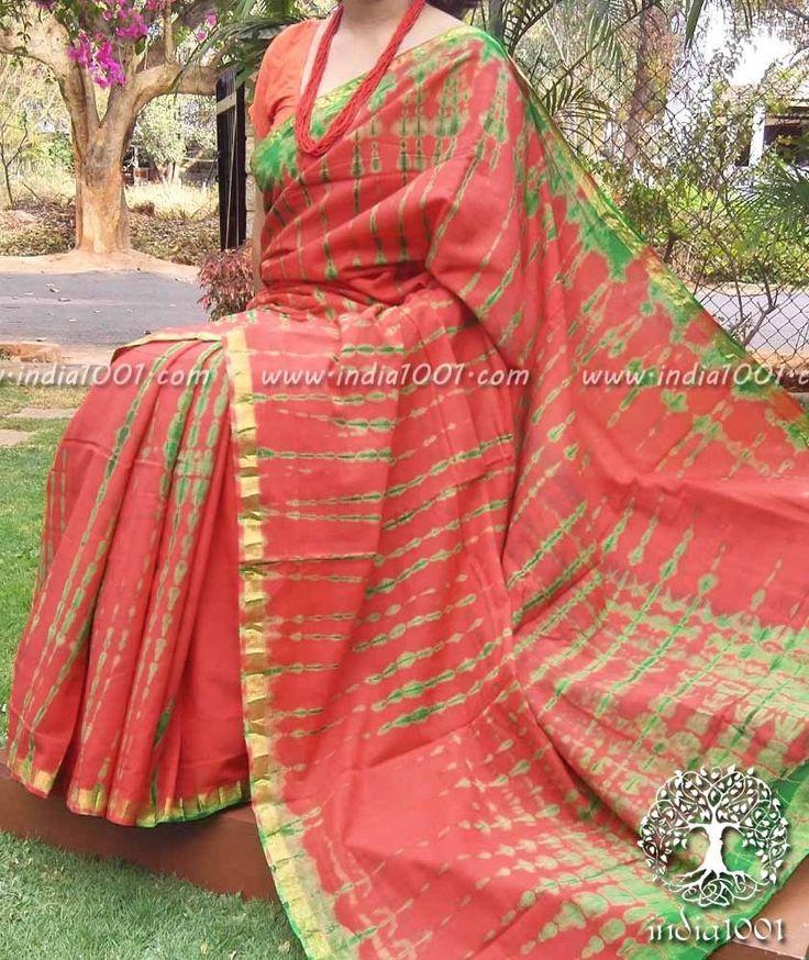 Beautiful Cotton Saree with Shibori Dyeing