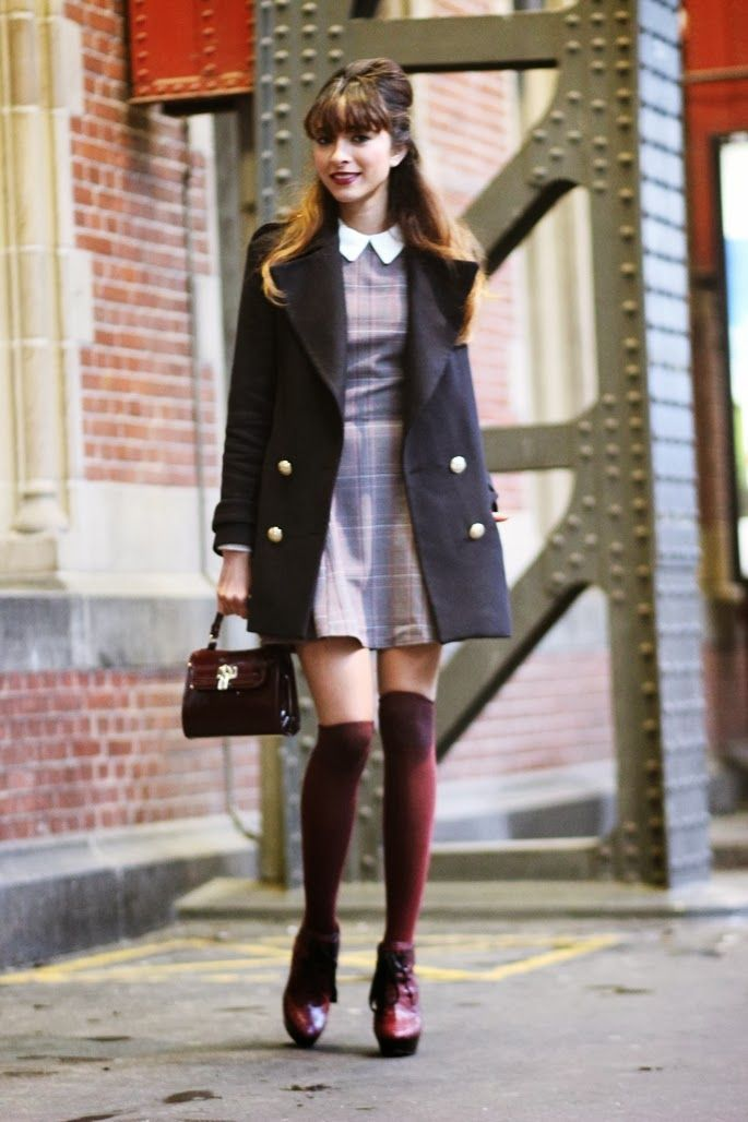 Preppy, vintage-ish, fall outfit