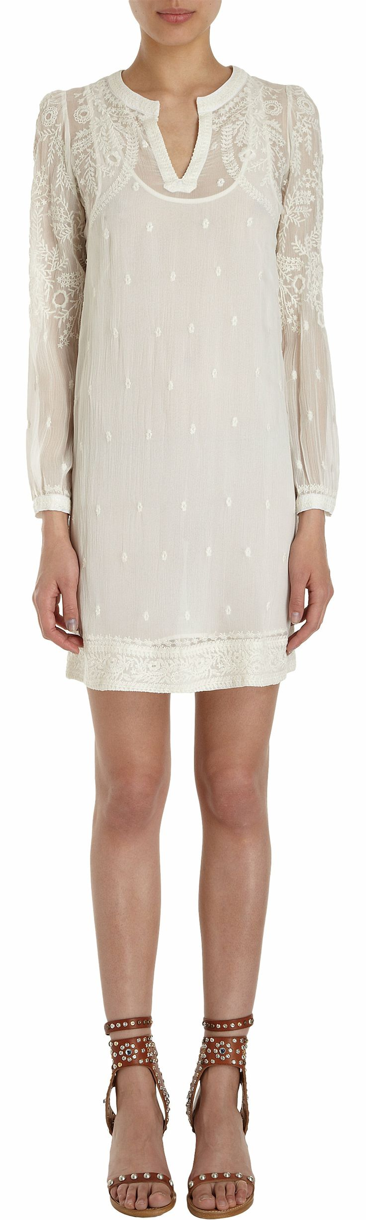 Isabel Marant Embroidered Long Sleeve Coverup at Barneys.com