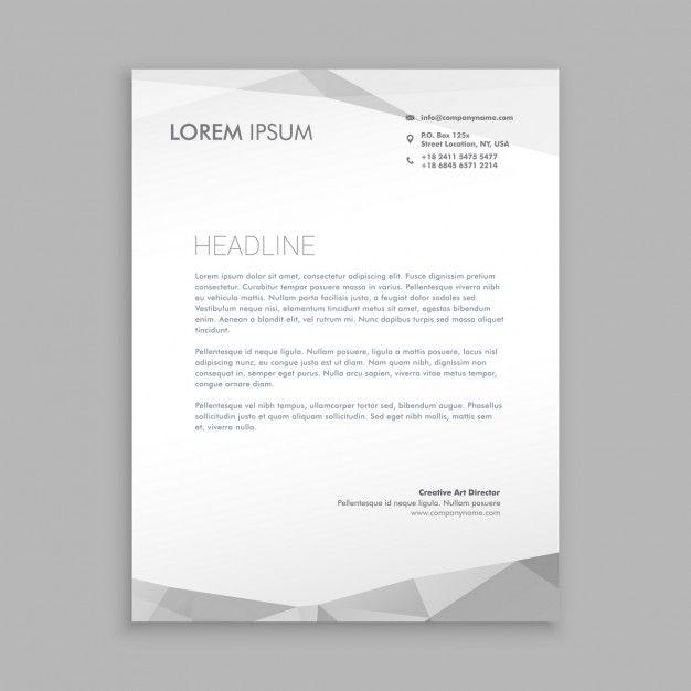 design elegante papel timbrado moderna Vetor grátis