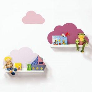 Wandtattoo Wolken für IKEA Bilderleiste - Farbe Orchidee-01