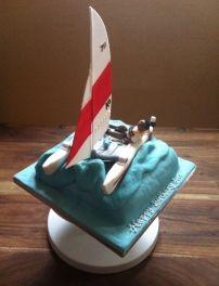Catamaran birthday cake.