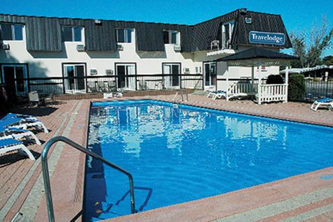 The Travelodge in Gananoque! Located near great restaurants, walking distance to both the casino and the 1000 Islands Visitor Center; where you will have all your needs met. Enjoy the great outdoor pool and other amenities. Enjoy your stay!