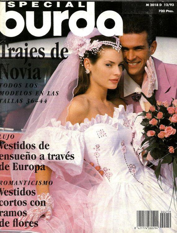 BURDA magazine, special edition BRIDAL dresses. Spanish edition 1993