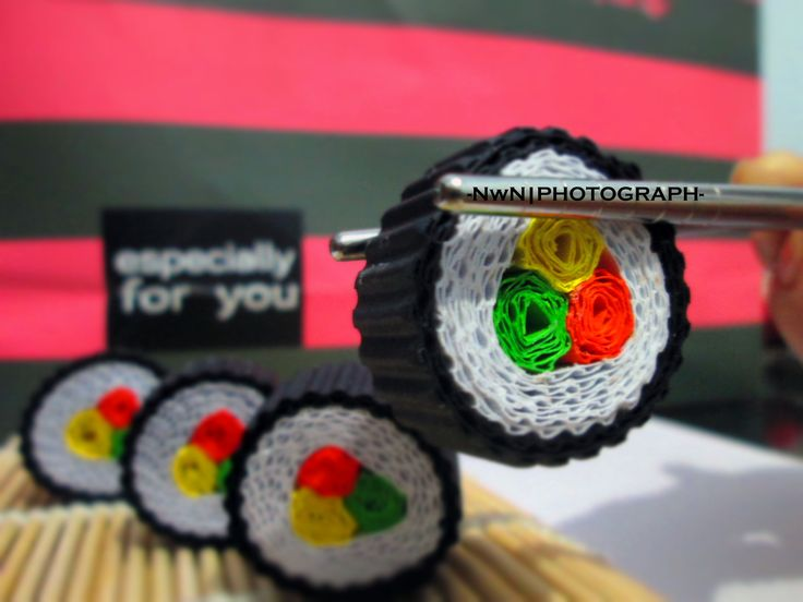 kokoru paper craft | sushi roll