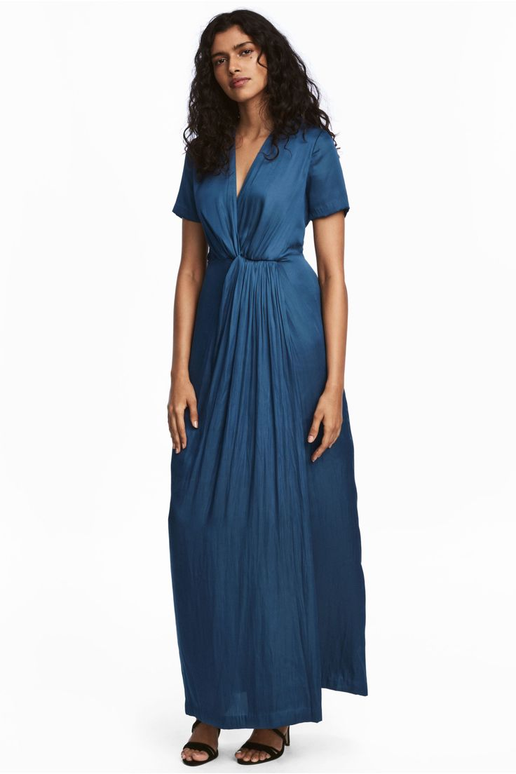 H&M SS17  satin maxi wrap dress 0524298001