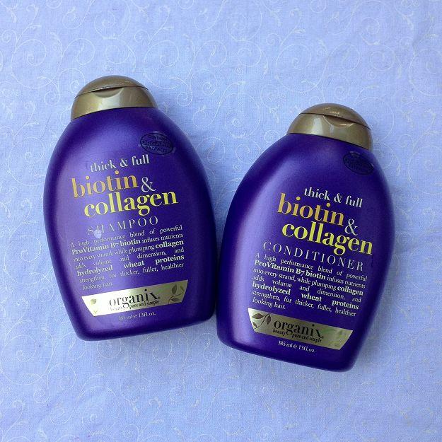 PRODUCT REVIEW: *NEW* Organix Biotin & Collagen shampoo & conditioner