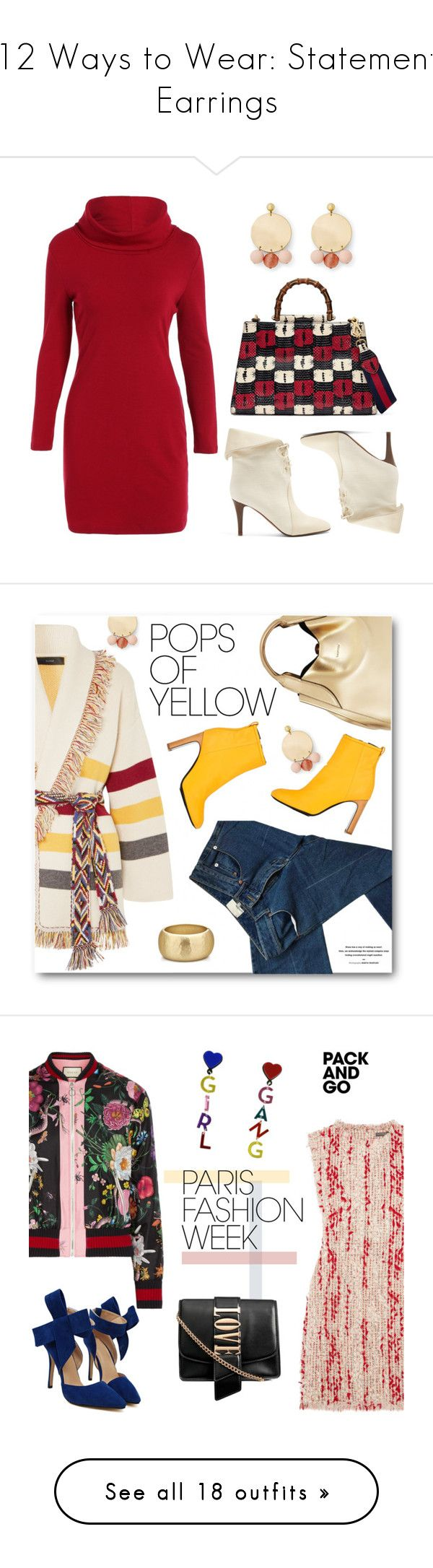 """""""12 Ways to Wear: Statement Earrings"""" by polyvore-editorial ❤ liked on Polyvore featuring StatementEarrings, waystowear, Gucci, Chloé, Rebecca Minkoff, Alanui, 3.1 Phillip Lim, Lanvin, rag & bone and Current Mood"""