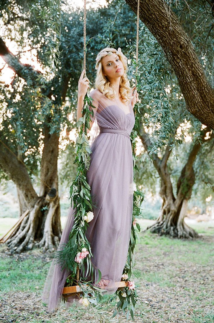 Rustic Lavender: Bridesmaid Dresses by Jenny Yoo