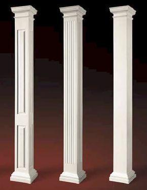 Square interior columns craftsman columns square load for Fiberglass square columns