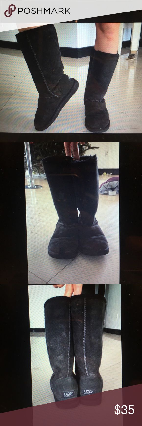 Ugg Boots black shorti size 5/6 only $35 All black tall original shorti ugg boots. For size 5 or 6. Little faded but nothing crazy. UGG Shoes Winter & Rain Boots