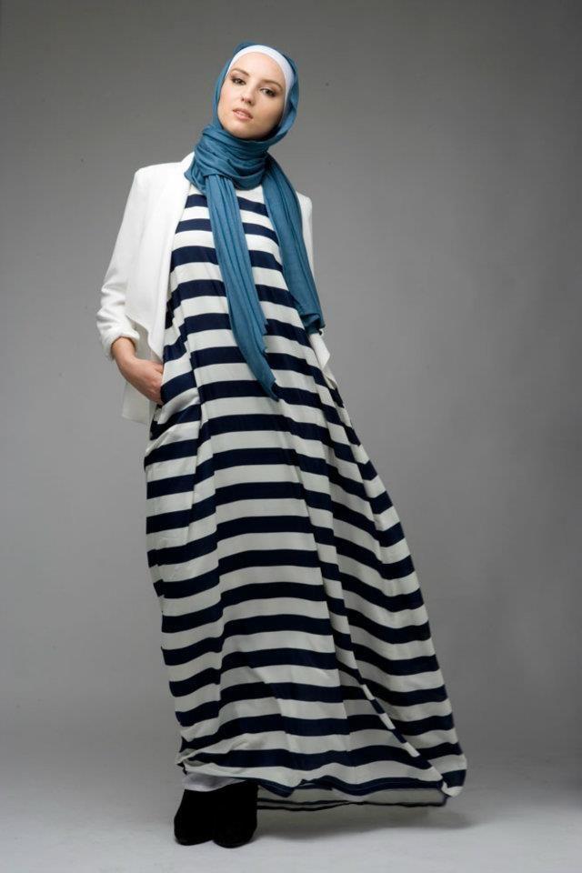 hijab / Striped Sail Dress