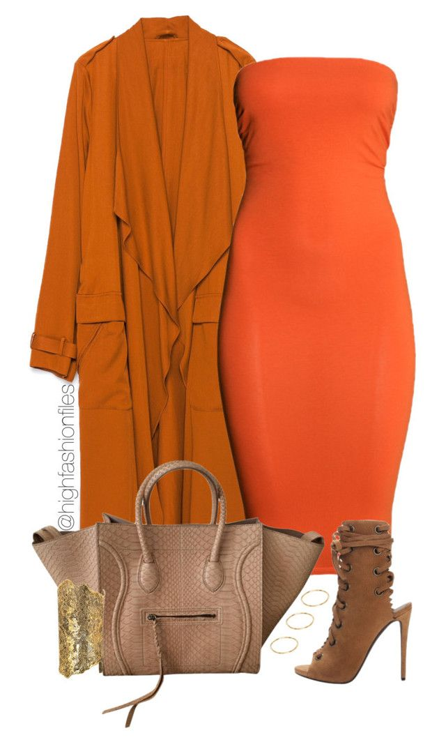 Tangerine by highfashionfiles on Polyvore featuring polyvore, fashion, style, H&M, Zara, Aurélie Bidermann, ASOS and clothing