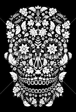 day of the dead art. Sugar skull #skulls