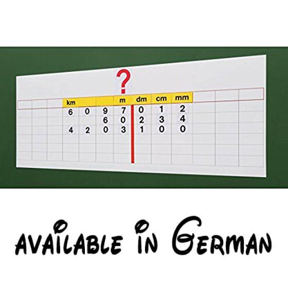 Vinco 87566 Umrechnungstabelle Set, 90 Stück, weiß, 105 x 33 cm. Problemlos Einheiten umrechnen. Hilft das Umrechnen verständlich zu erklären. Die Kinder verstehen das Umrechnen in Kürzester Zeit. Für Längen, Flächen und Gewicht. Mit Einheiten und Zahlenkärtchen #Toy #TOYS_AND_GAMES