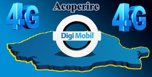 Acoperire 4G Digi Mobil / RCS-RDS