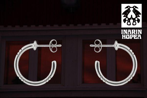 silver earrings, sahatut korvakorut, #inarinhopea, #inari, #lappi, #lapland, #jewellry www.inarinhopea.fi