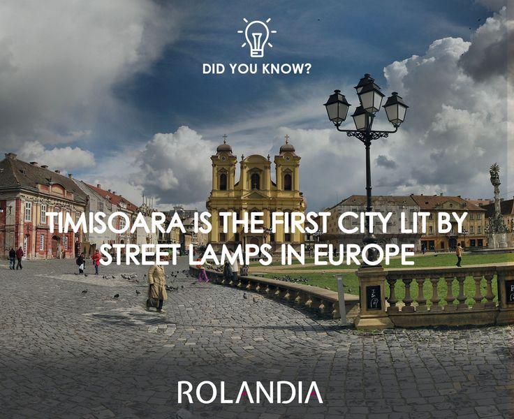 On November 12th, 1884, Timisoara was lit by 731 street lamps.  #DiscoverRomania #DidYouKnow #Rolandia