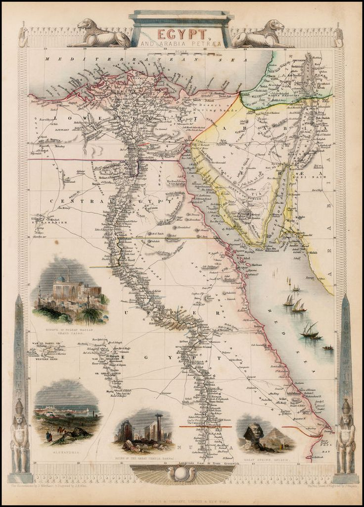 1851 map of Egypt. Just looking at it makes we want to go back there!