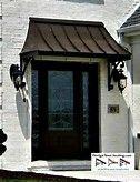 Superb Exterior Door Awning #5 Awning Over Front Door