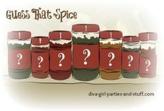 Guess That Spice  Bridal Shower and Housewarming Party Game