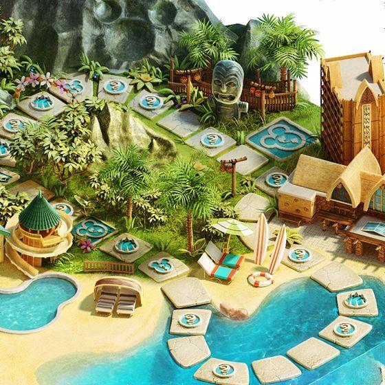 ディズニーによるハイクオリティなすごろくのゲームボード「Disney Vacation Club Getaway Your Way Sweepstakes」 - GIGAZINE