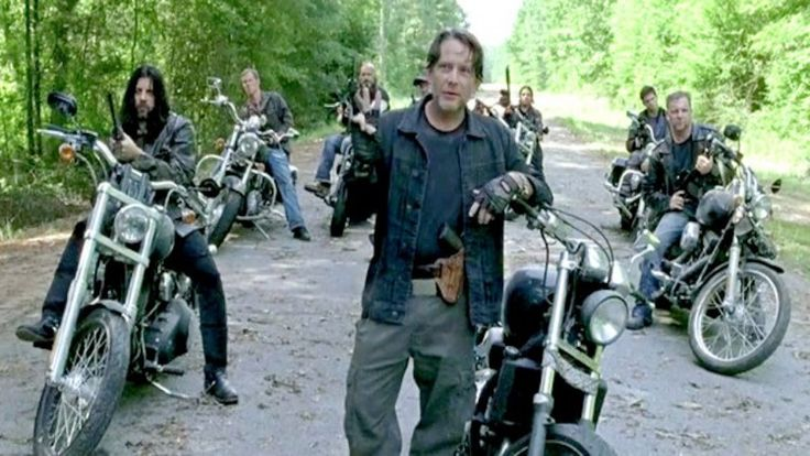 Negan and his gang the Saviors in The Walking Dead Season 6 Episode 9