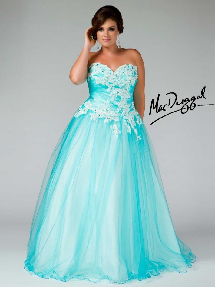 Plus Size Turquoise Prom Dress Blue Dress Lace Elegant -7697
