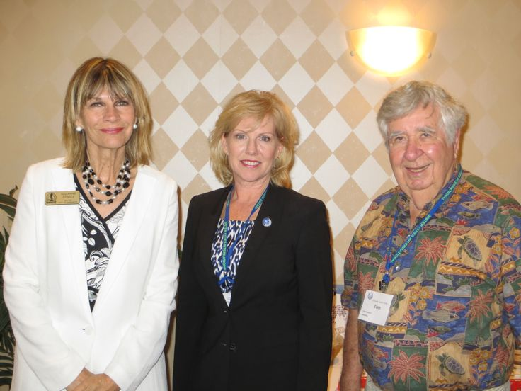 Sarasota Mayor Suzanne Atwell with Sister Cities International President & CEO Mary Kane; and Sarasota Sister Cities Past President Tom Halbert at the Helmsley Sandcastle Resort on Lido Key in Sarasota during the Florida Sister Cities State Convention on May 2, 2013