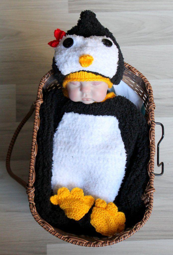 Penguen Bebek Kostümü %100 el işçiliğiyle, bebeklere uygun iplikler ve malzemeler kullanılarak üretilmektedir..... 156823
