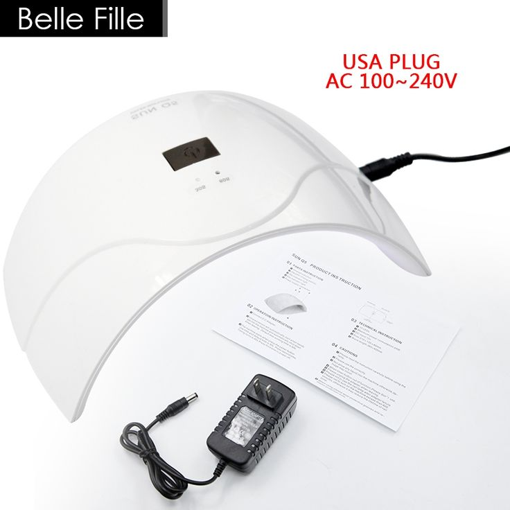 23.13$  Watch here - http://alioj1.shopchina.info/go.php?t=32790690025 - 24W UV Lamp Nail Dryer US/UK Plug LED AC100-240V Fast Drying Lacquer Gel Polish Manicure Machine Professional Tool Kit 23.13$ #buychinaproducts
