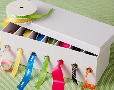 I am going to have to try this. I'm always struggling with keeping my ribbon under control during christimas.