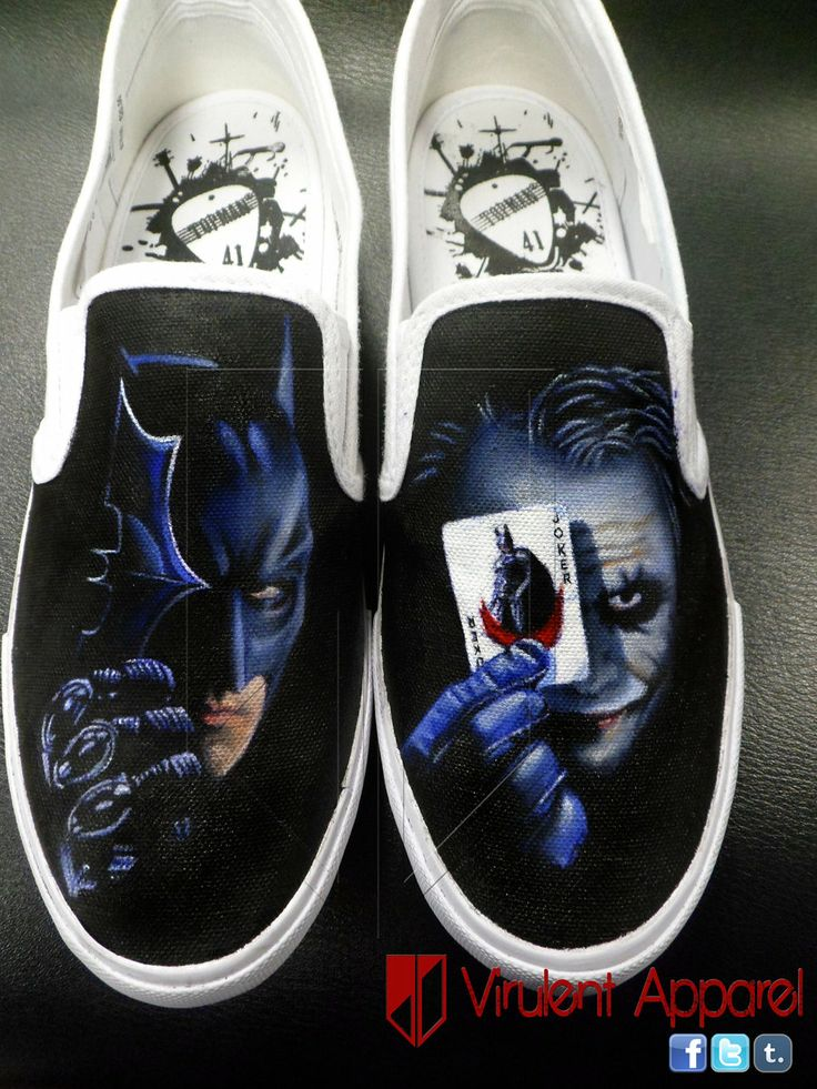 The Dark Knight Vans Shoes