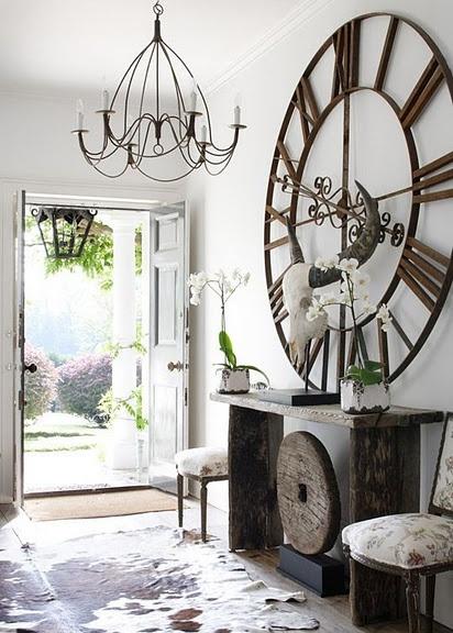 entrance idea love the idea of a big clock or