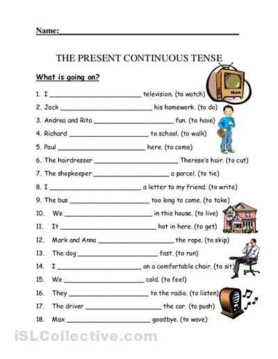 Copy Of Present Continuous Tense - Lessons - Tes Teach