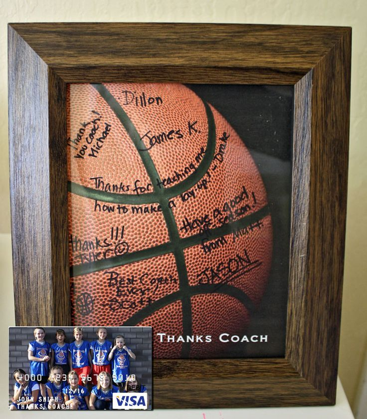 Easy Basketball Coach Gift with Free Printable