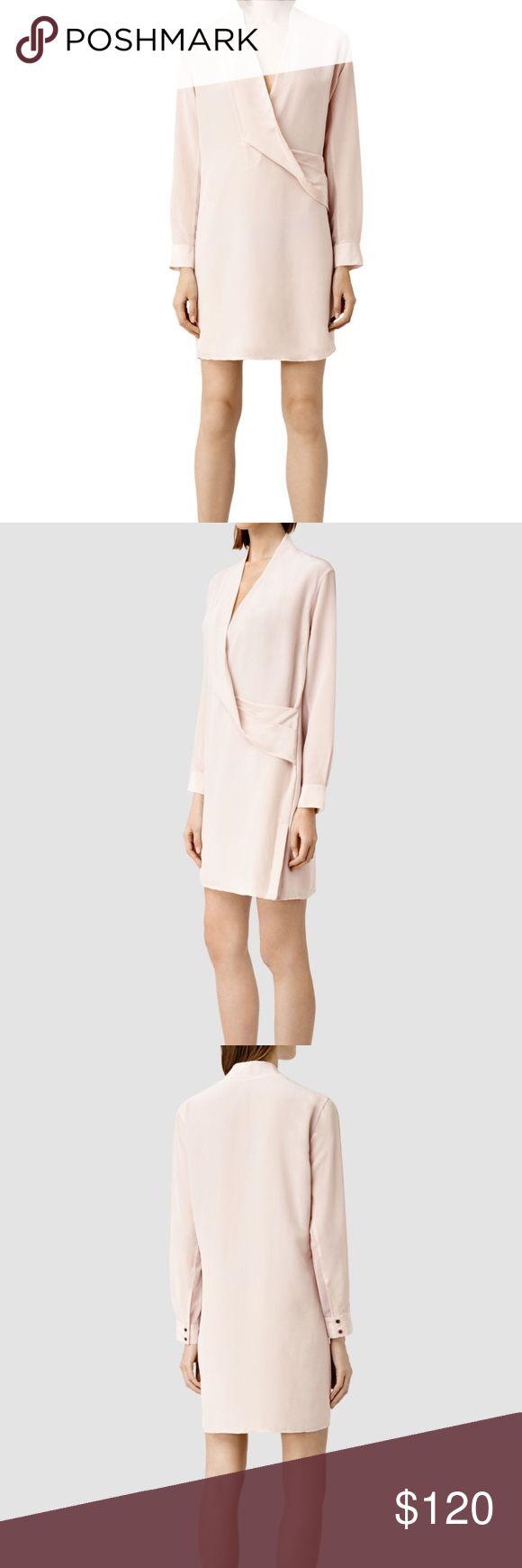 "AllSaints ASH PINK WALTON SHIRT DRESS US 0 2 4 6 8 For Sale is a stunning All Saints Women's Ash Pink ""Walton"" Shirt Dress  Brand New with Tags  Silk Blend - Long Sleeve  Color: Ash Pink All Saints Dresses Mini"