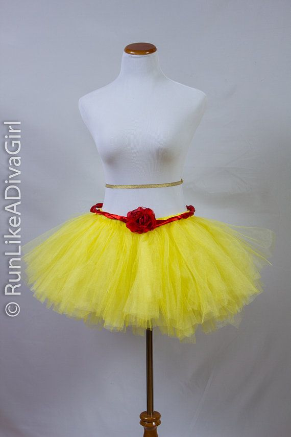 Run Disney, Princess Belle Tutu, Disney Princess Half Marathon Tutu, Running Skirt, Princess Costume, Cosplay by RunLikeADivaGirl