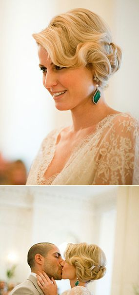 The only thing that I want emerald green are my bridesmaids dresses and my earrings:) maybe a few more pops other places but would love to stick with the peach, blush, cream and gold other places.