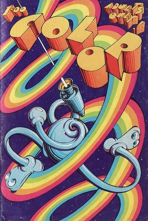 Cosmic Comics cover by Victor Moscoso
