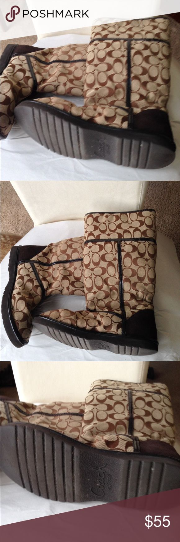 ☃️👢COACH Boots with fur inside👢 👢👠Adorable and cute COACH BOOTS 👢👠 COACH Shoes
