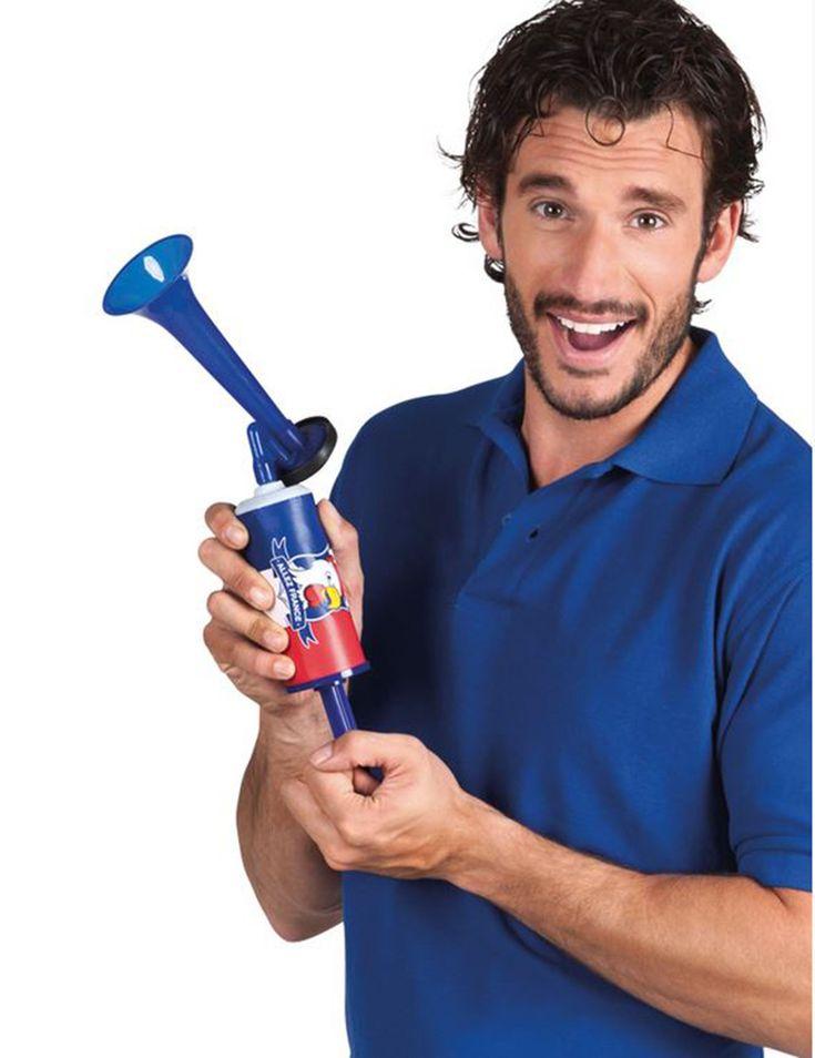 Corne brume supporter Allez France : Cette corne de brume est pour supporteur.En plastique, elle est de couleur bleu. Elle possède un imprimé représentant le drapeau français sur lequel un coq est...