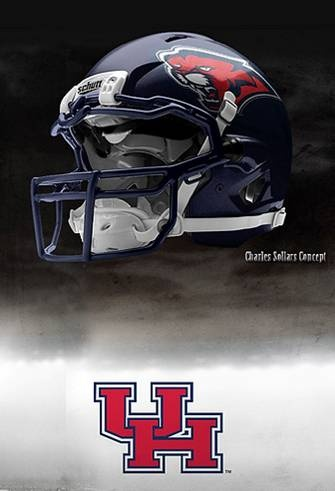 University of Houston Cougars - concept football helmet
